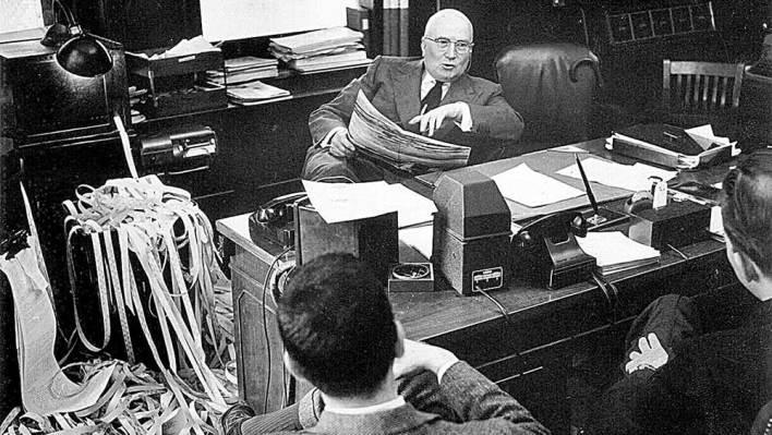 G.M. Loeb in his Office