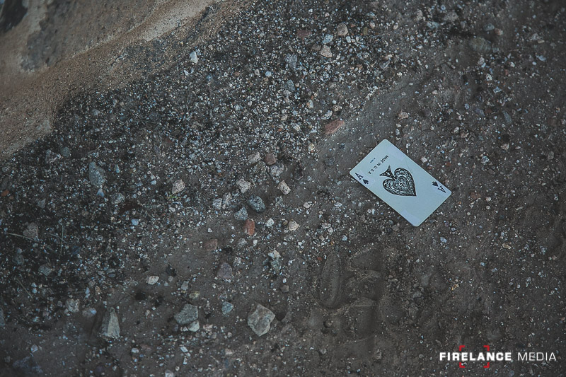 "A playing card used as a ""clue"" and reinforcement that we were on the right track in downtown Tucson."