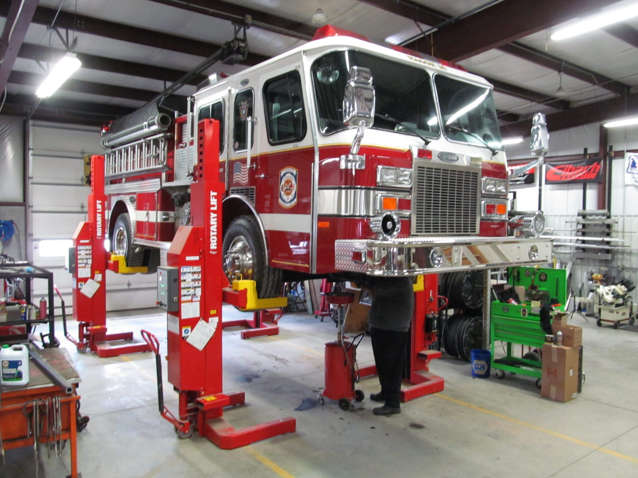 In House Fire Truck Service