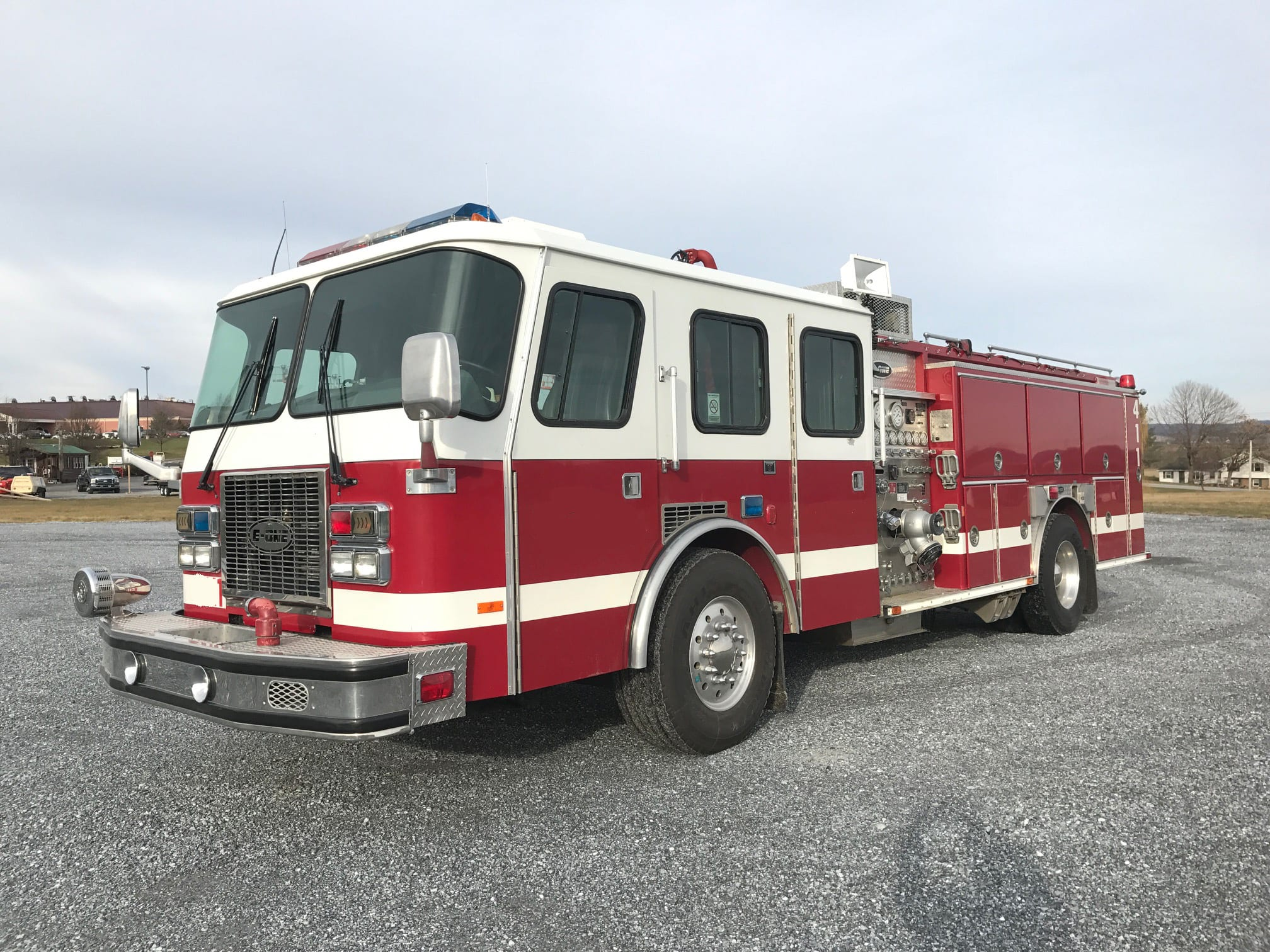 1996 E One Cyclone Pumper Fire Line Equipment
