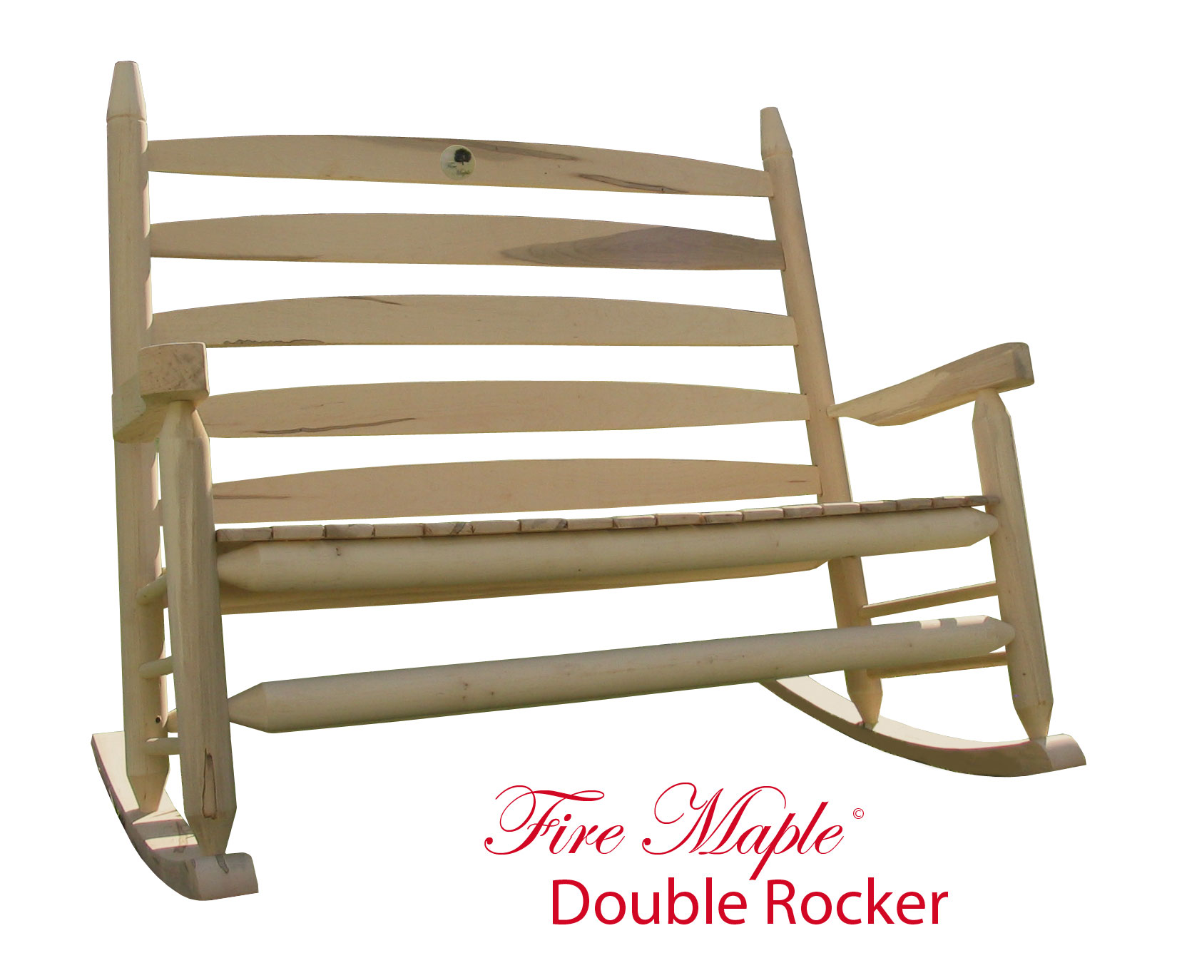 Double Rocking Chair Fire Maple Originals Rocking Chairs Firemaplerockers