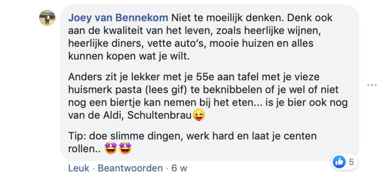 Joey van Bennekom in de rat-race