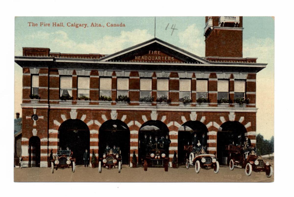 The Fire Hall Calgary Alta Early 20th Century