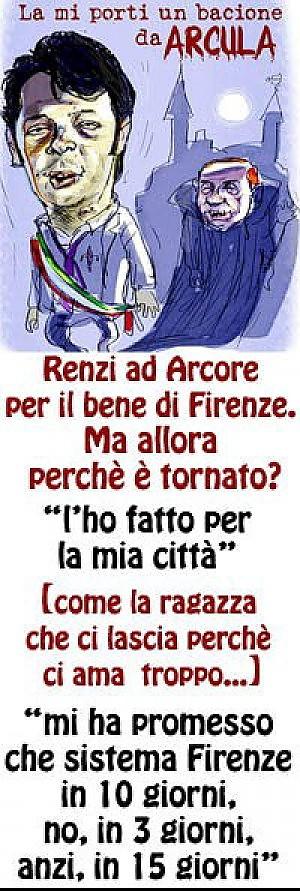 Renzi zombi nella vignetta bufera sul sindaco di Firenze