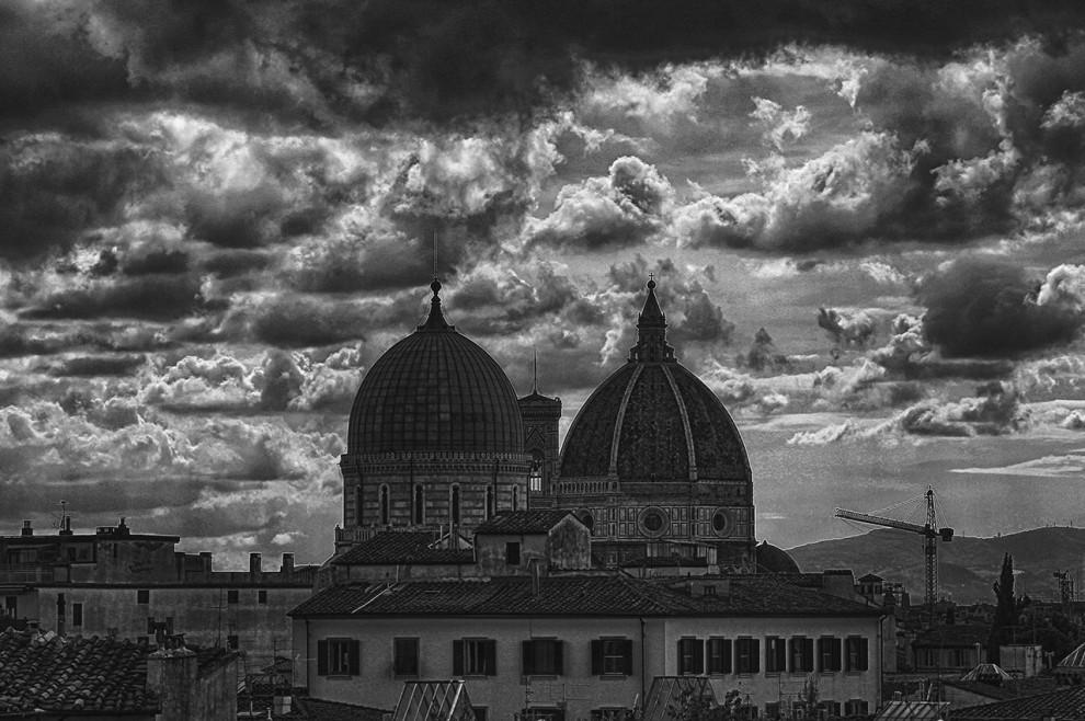 Temporali, tramonti e nuvole, la Firenze mai vista in 3D