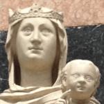 ガラスの瞳の聖母(部分)