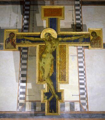チマブーエ「十字架のキリスト」洪水後