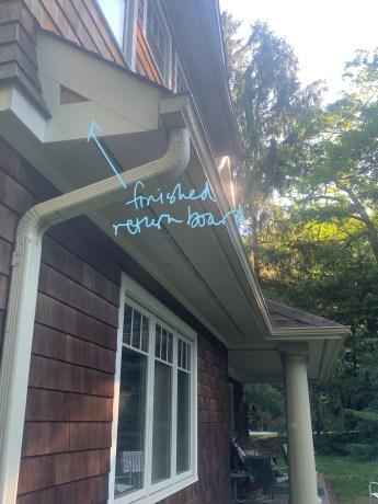 Finished living room overhang trim return board_Annotated