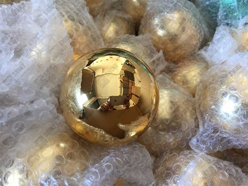 Christmas steel Baubles  Steel SpheresSteel sculpture