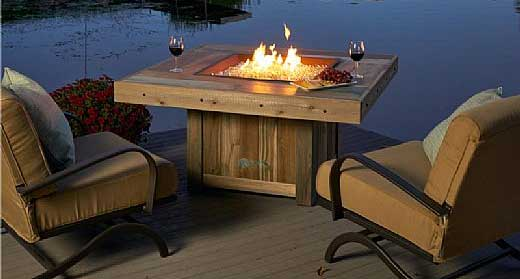 Outdoor Greatroom Vintage 48 25 Square Faux Wood Fire Table Rustic Fire Pit Table - 4 Features I Like, Including High Heat
