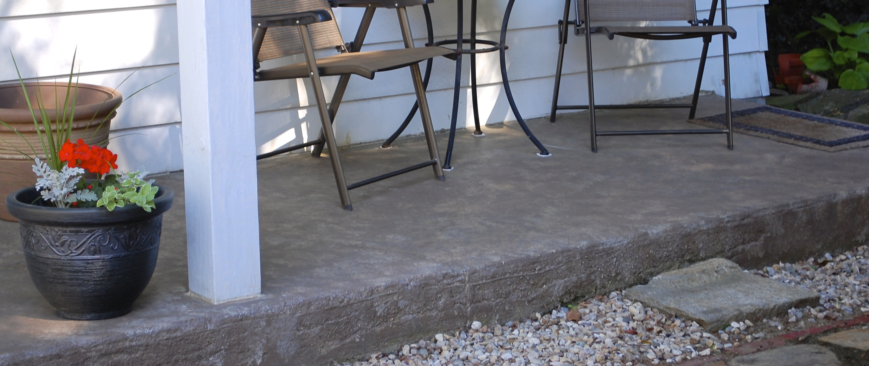 You Are Here: Home / DIY / How To Revive A Concrete Patio With Stain