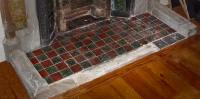 Fireplace Hearths in Square Plain Glazed Tiles | Fireplace ...