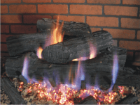 Ceramic Gas Fireplace Logs | Fireplace Door Guy