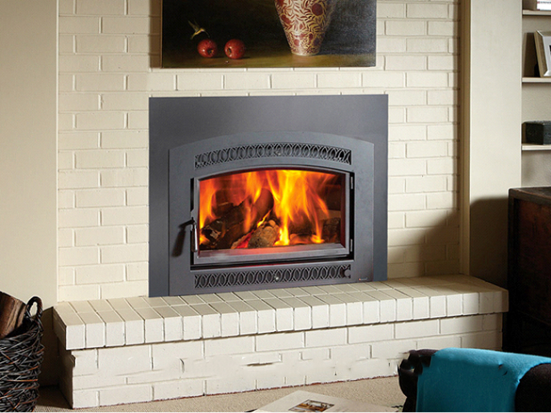 Install Gas Fireplace In Existing Home Large Flush Hybrid-fyre™ Wood Insert Arched | The