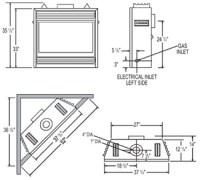 Standard Gas Fireplace Insert Dimensions. Fireplace ...