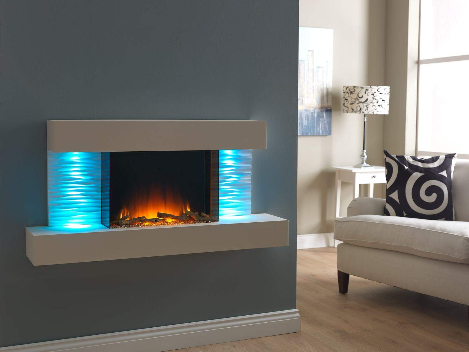 Wall Mounted Electric Fires  Fireplaces Direct  Perth