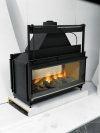 DOUBLE SIDED GAS FIREPLACE INSERTS  Fireplaces