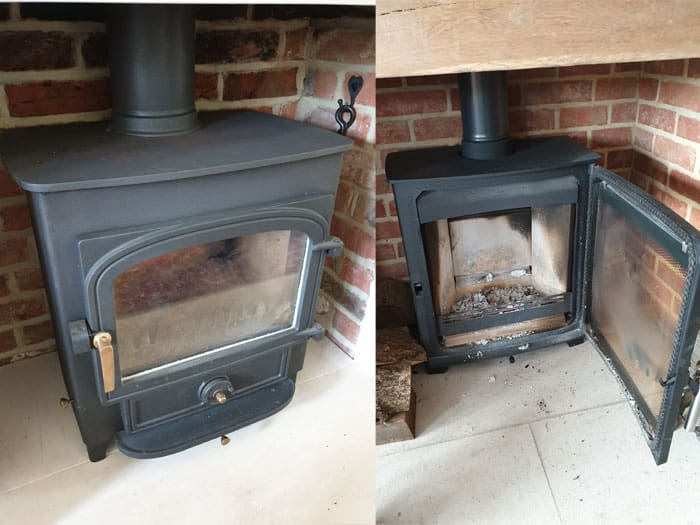 what to put behind a wood burning stove