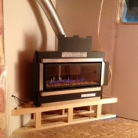 Steel Framing a Gas Direct Vent Horizontal Fireplace ...