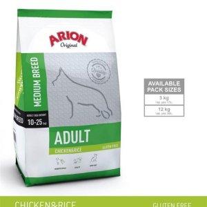 Arion Original Adult Medium Breed Hundefoder - Kylling og Ris - 3kg