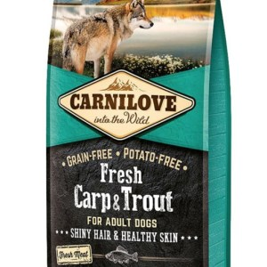 Carnilove Fresh Carp & Trout - Hund, 12 kg m. frisk kød