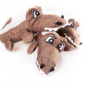 PartyPets Hundelegetøjs Bamse Krokodille - 30cm - Med Pivelyd