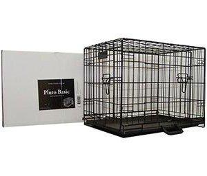 Petcare Pluto Hunde Transportbur Basic - i Foldbart Stål - Flere Størrelser