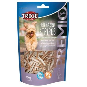 Trixie Hunde Snack Godbidder Premio Fisk Og Kanin Strimler, 100g