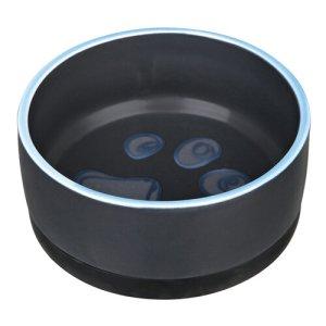 Trixie Hundeskål i Keramik - Med Skridsikker Gummibund - 0,4L - Ø12cm - - - -