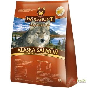 WolfsBlut Alaska Salmon Adult hundefoder, 15 kg