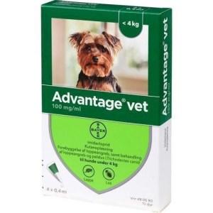 Advantage Vet loppemiddel til hunde 0-4 kg