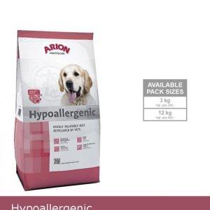 Arion Hypoallergenic Hundefoder - Med Laks og Krill - 3kg