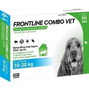 Frontline Combo til hunde 10-20 kg - BONUSPAKKE 6 STK