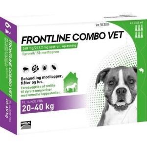 Frontline Combo til hunde 20-40 kg - BONUSPAKKE 6 STK