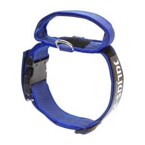 K9 C&G, Super-grip Halsbånd m/håndtag, Blå, 47-67cm