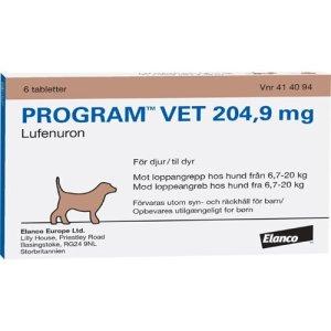 Program Vet Hunde Loppemiddel Tablet - 6,7-20kg - 204,9mg - 6 Tabletter