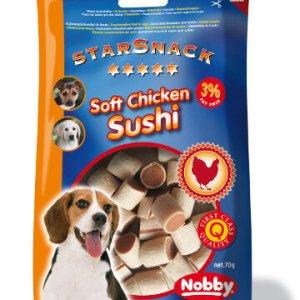 StarSnack Hunde Snack Godbidder - Med Blød Kyllinge Sushi - 70g - 3% Fedt
