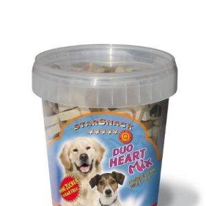 Starsnack Hunde Snack Godbidder Duo Hjerte Mix med Kallun, Vildt, Kylling og Lakseolie - Sukkerfrie - Lavt Fedt indhold - 500g