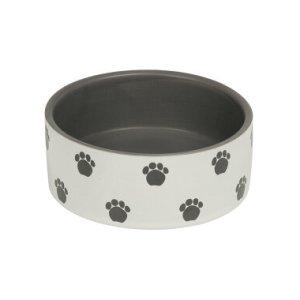 Nobby Hundeskål i Keramik Med Poteaftryk, 0.25L - - - - -