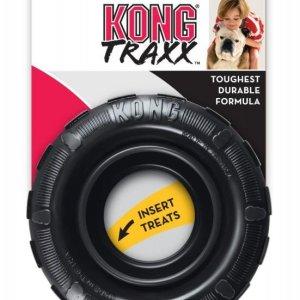 Kong Traxx Hundelegetøjs Bidedæk i Holdbart Gummi - Flere Størrelser