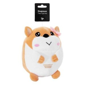 Dogman Kawaii Plys Hamster Bamse - 18x12cm - Med Pivelyd