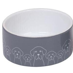 Nobby Hundeskål i Keramik - Med Hunde - Flere Størrelser