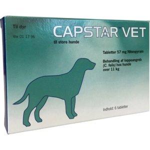 Capstar Vet Hund - Til behandling af loppeangreb - 11-57kg - 6 Tabletter