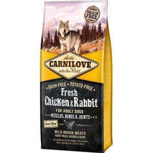 Carnilove Grainfree Dog Fresh Kylling & Kanin 1,5kg