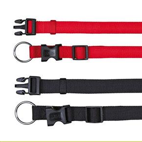 Classic halsbånd, flere størrelser/farver Rød 35-55 cm