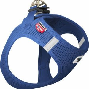 Curli Vest sele Air-mesh Blå, vælg størrelse XL Brystmål 54-60cm