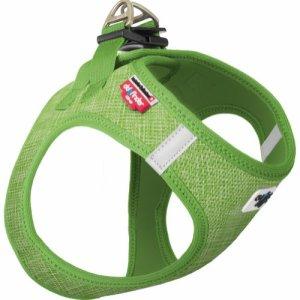 Curli Vest sele Air-mesh Linen Lime, vælg størrelse XL Brystmål 54-60cm