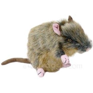 Hundelegetøj som ligner en rigtig rotte