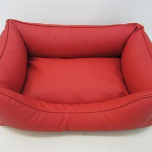 Hundeseng Nappa rød 65x50cm
