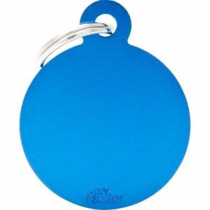 Hundetegn Basic Aluminium Big circle Blå